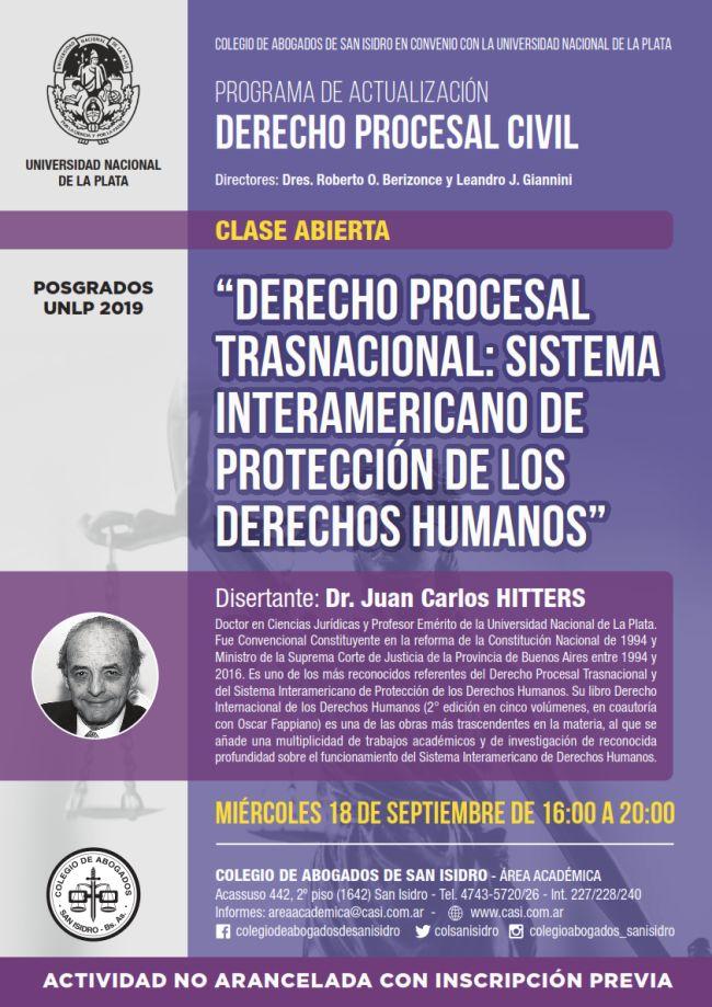 Derecho procesal trasnacional. Clase abierta