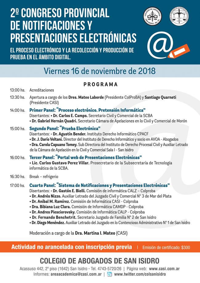 SNPE. II Congreso Provincial. 16/11/2018