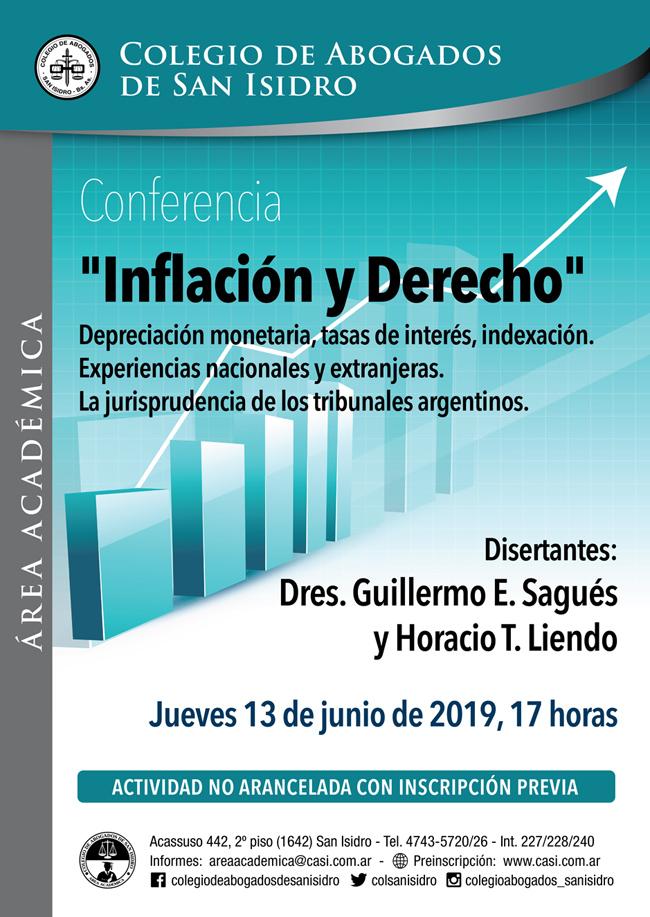 Inflación y Derecho. Conferencia 13/6/19