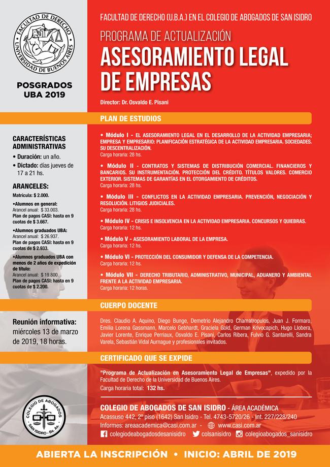 Actualización Asesoramiento Legal Empresas