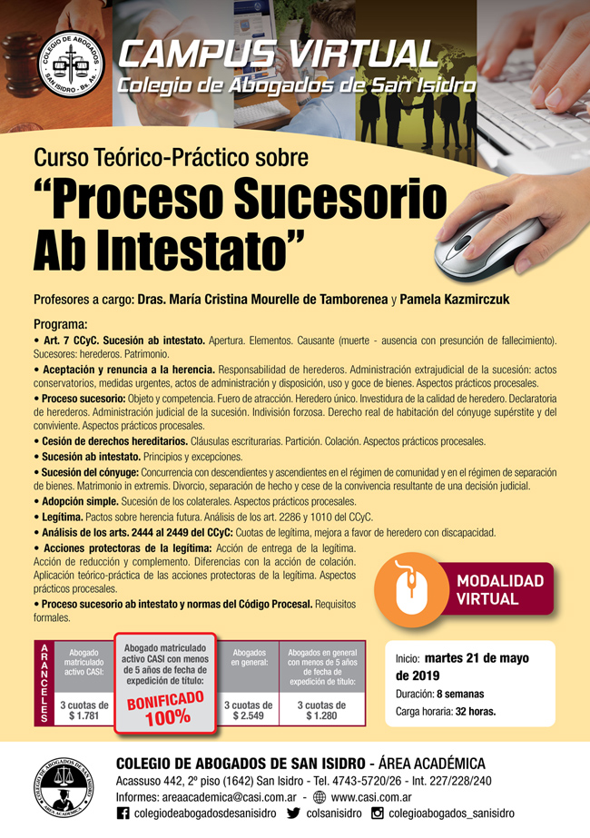 Proceso Sucesorio ab intestato. Curso virtual
