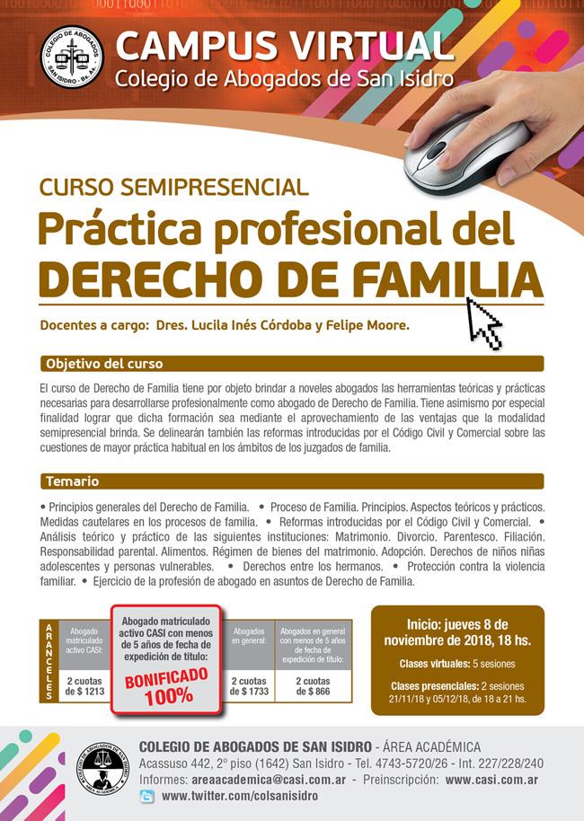 Derecho de Familia. Semipresencial 8/11/2018