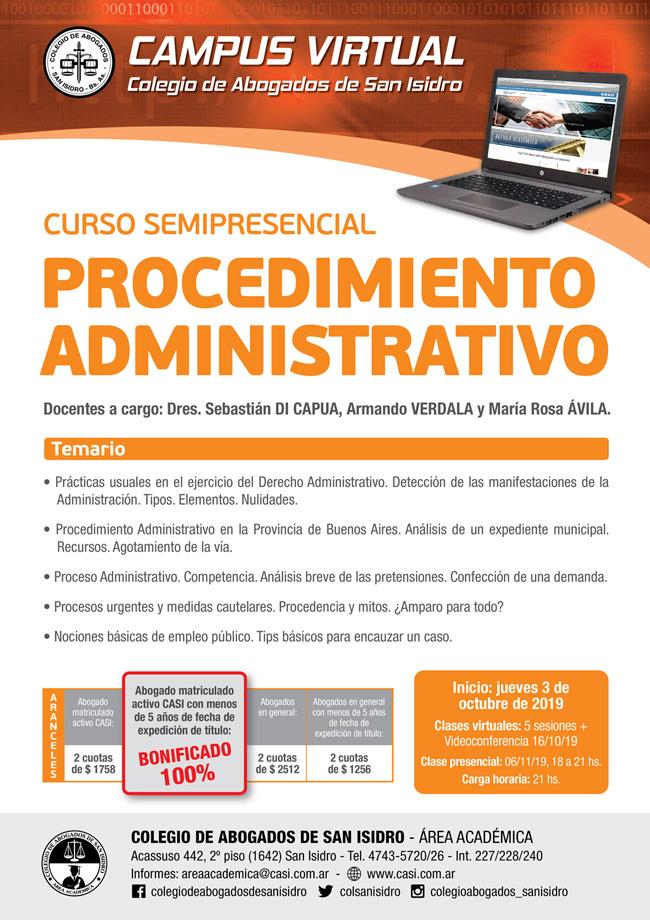 Procedimiento Administrativo. Curso semipresencial