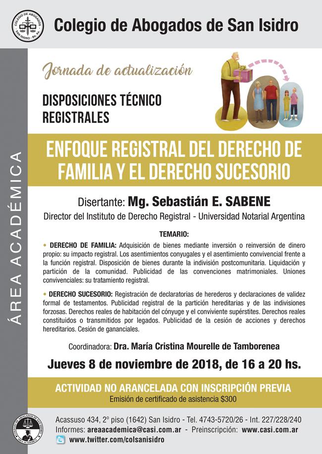 Disposiciones técnico registrales. Jornada 8/11/2018