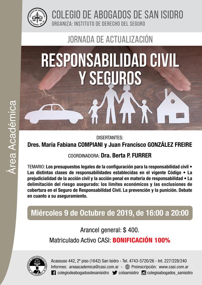 Responsabilidad Civil y Seguros. Jornada de actualización
