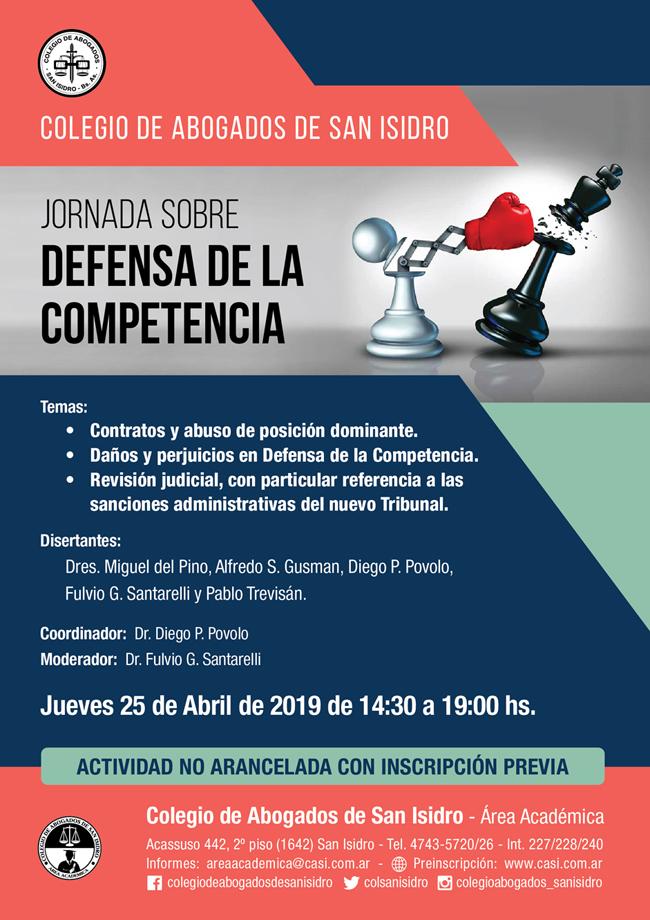 Defensa de la competencia. Jornada 25/4