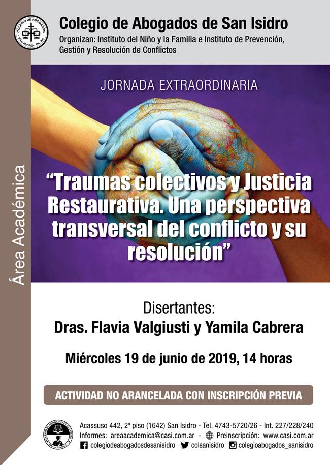 Traumas colectivos y Justicia Restaurativa. Jornada 19/6/19