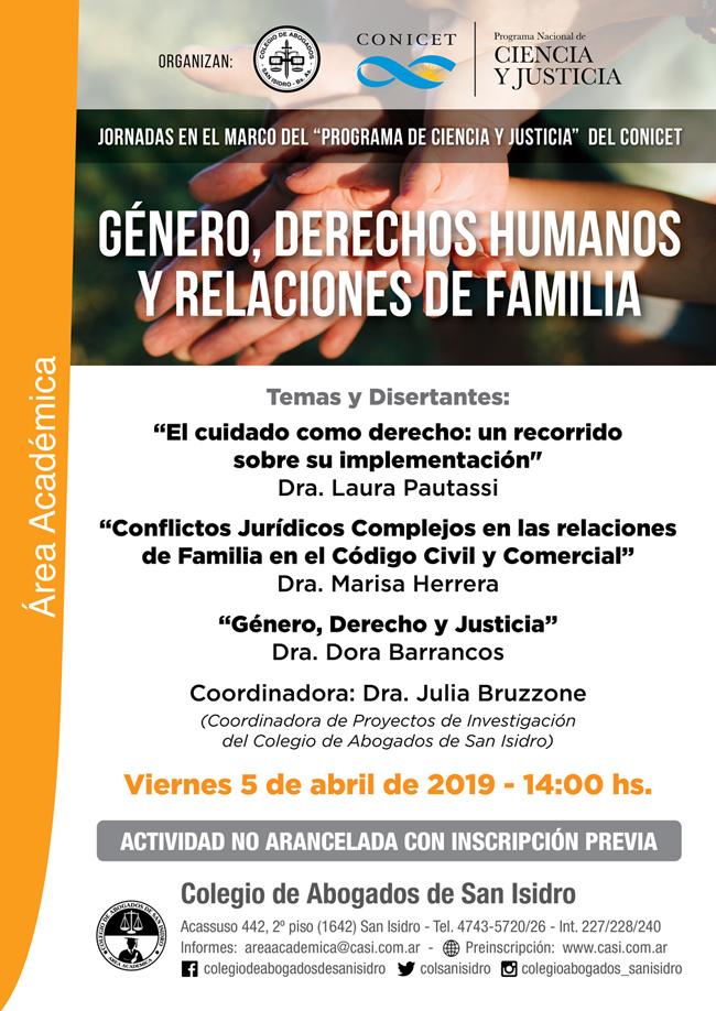 Jornada: Género, DDHH y Relaciones de familia