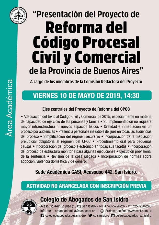 Reforma del CPCC. Presentación del proyecto