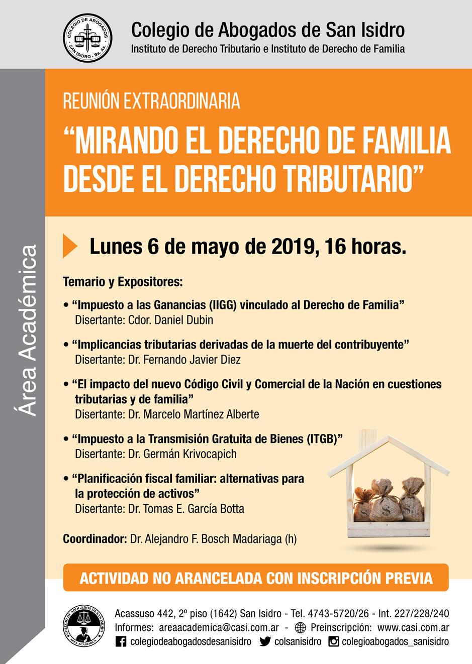 El Derecho de Familia desde el Derecho Tributario. Reunión