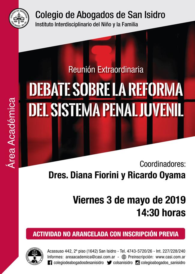 Reforma sistema penal juvenil. Reunión 3/5/2019