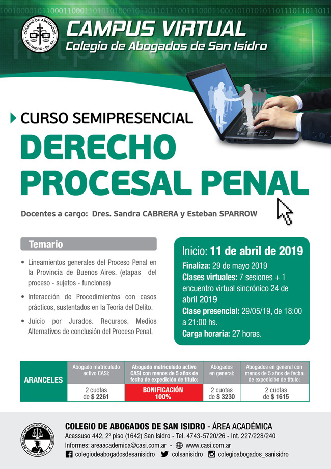 Derecho Procesal Penal. Semipresencial