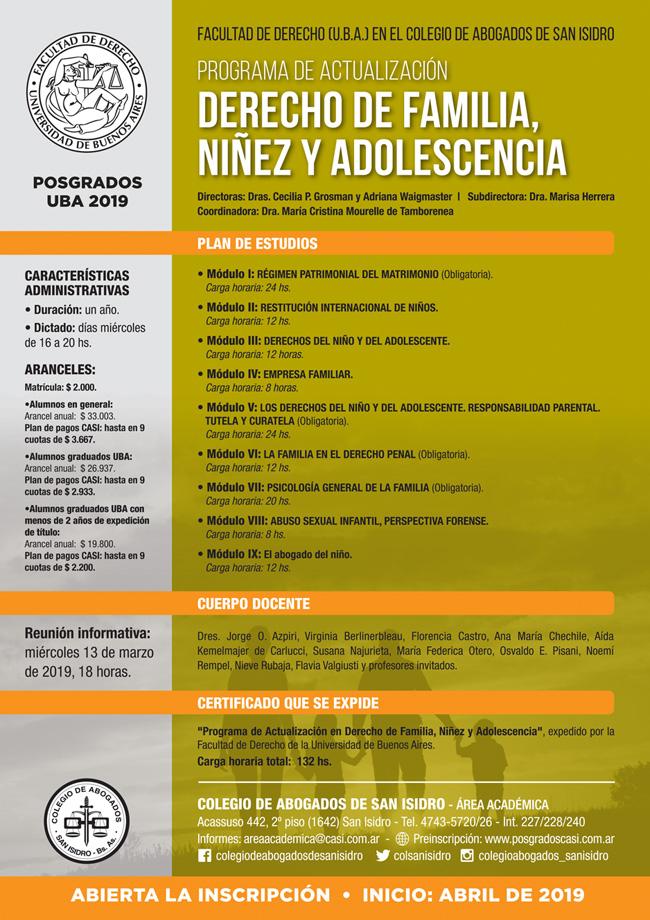 Actualización en Derecho de Familia, Niñez y Adolescencia