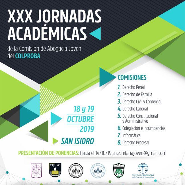 XXX Jornadas Académicas de la Comisión de la Abogacía Joven del Colegio de Abogados de la Provincia de Buenos Aires