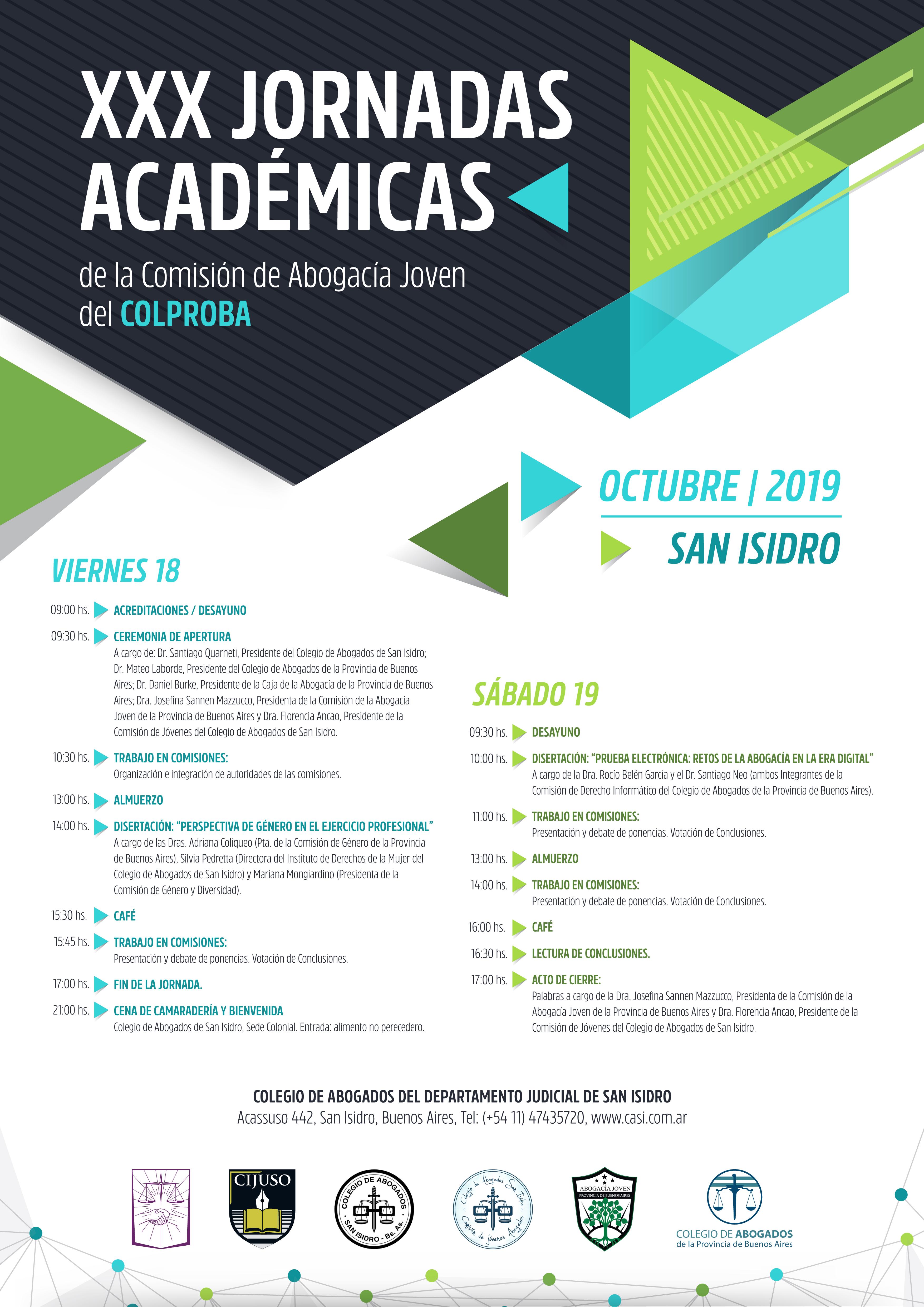 XXX Jornadas Académicas: Comisión de la Abogacía Joven
