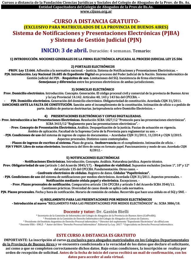 SNPE. CURSO A DISTANCIA GRATUITO - CIJUSO
