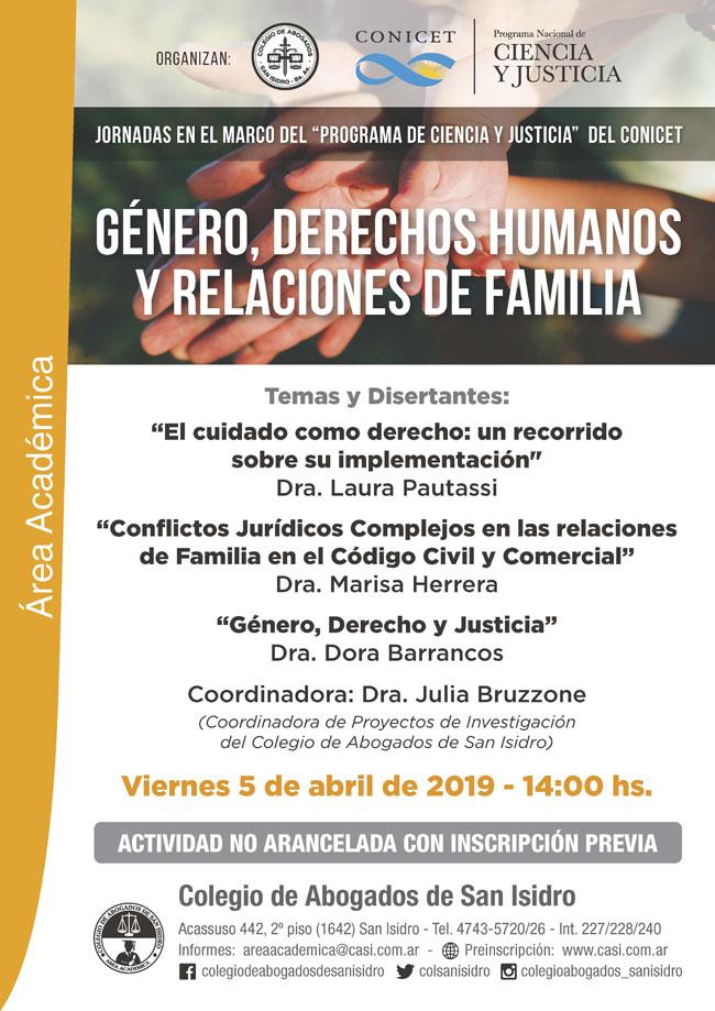 Jornada del CONICET. Dras. Pautassi, Barrancos y Herrera: 5/4