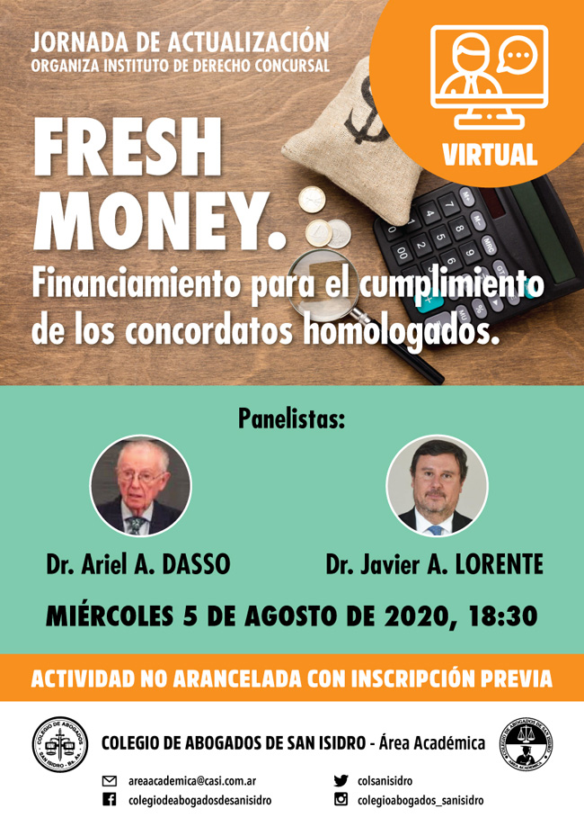 Fresh money. Jornada de actualización