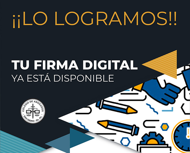 FIRMA DIGITAL DISPONIBLE